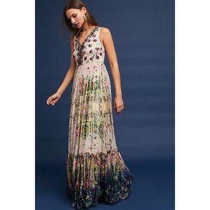 NEW Anthropologie Cydney Tiered Maxi Dress